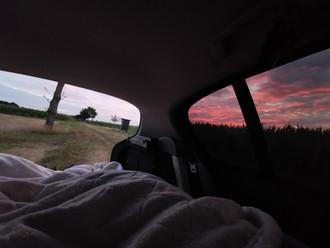 Übernachtung im Auto, irgendwo in Lüneburg