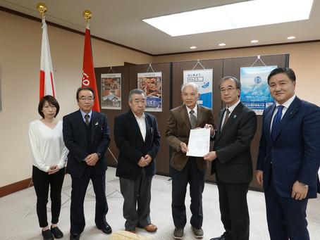 『阿賀野川浄水場内に保管されている放射能汚泥の取り扱い』について、花角知事に要望いたしました