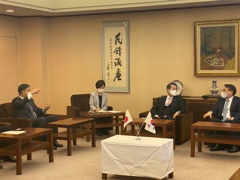 駐新潟大韓民国総領事館 総領事が着任挨拶に来られました。