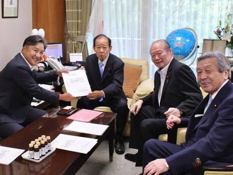 『地滑りがけ崩れ対策都道府県議会協議会』の会長として、緊急提言書を提出して参りました