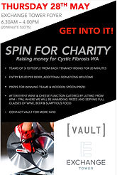 charity spin event perth vault