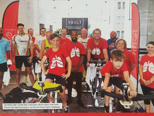 charity spin event in exchange tower