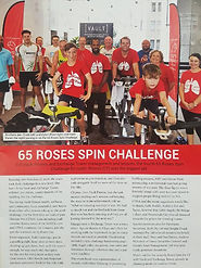 65 roses spin event vault fitness