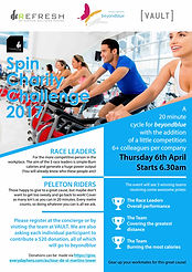 Vault Fitness Charity spin event in St Martins Tower