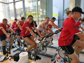vault fitness charity spin event