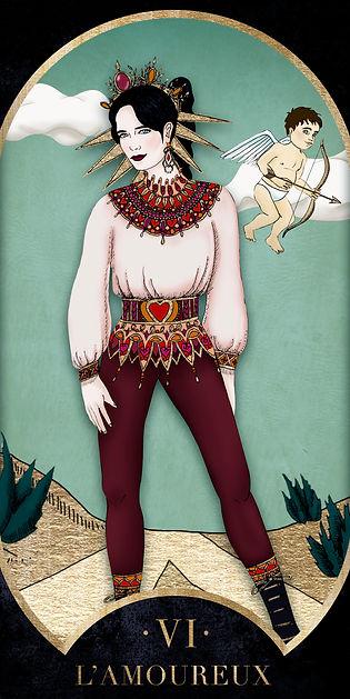 Eva Green en Amoureux dans le Tarot de Marseille par Carlovna Charlotte Weil