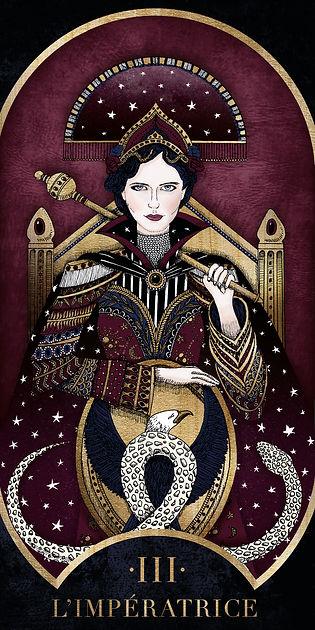Eva Green en Impératrice dans le Tarot de Marseille par Carlovna Charlotte Weil