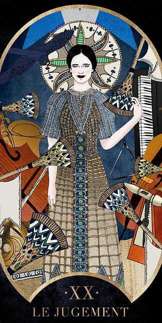 Eva Green en Jugement dans le Tarot de Marseille par Carlovna Charlotte Weil