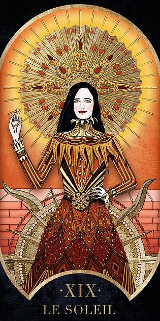 Eva Green Soleil dans le Tarot de Marseille par Carlovna Charlotte Weil