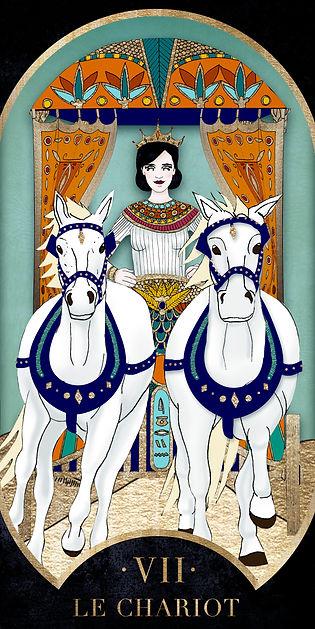 Eva Green en Chariot dans le Tarot de Marseille par Carlovna Charlotte Weil