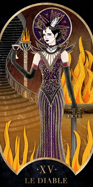 Eva Green en Diable dans le Tarot de Marseille par Carlovna Charlotte Weil