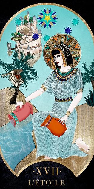 Eva Green en Étoile dans le Tarot de Marseille par Carlovna Charlotte Weil