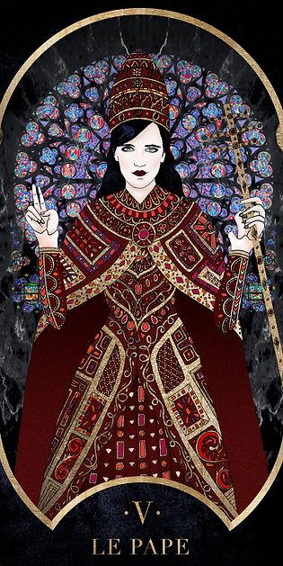 Eva Green en Pape dans le Tarot de Marseille par Carlovna Charlotte Weil