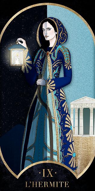 Eva Green en Hermite dans le Tarot de Marseille par Carlovna Charlotte Weil