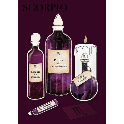 POTIONS SCORPION - CARTE POSTALE