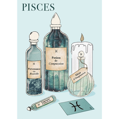 POTIONS POISSON - CARTE POSTALE