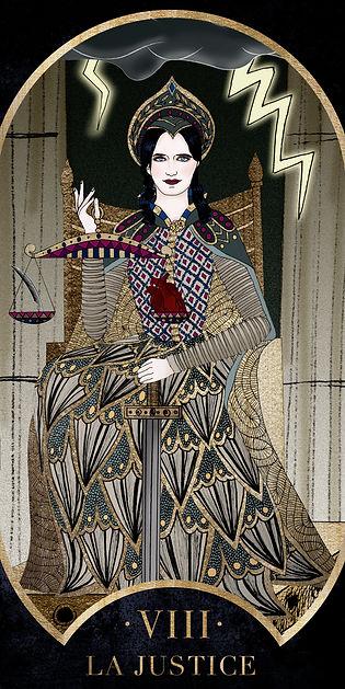 Eva Green en Justice dans le Tarot de Marseille par Carlovna Charlotte Weil