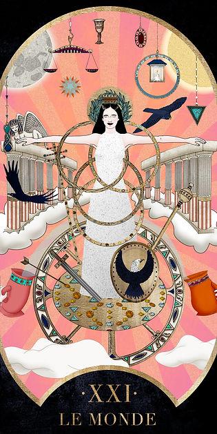 Eva Green en Monde dans le Tarot de Marseille par Carlovna Charlotte Weil