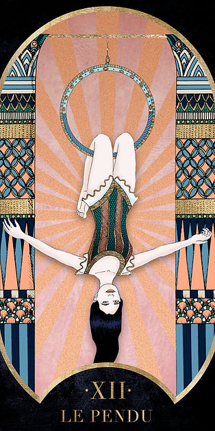 Eva Green en Pendu dans le Tarot de Marseille par Carlovna Charlotte Weil