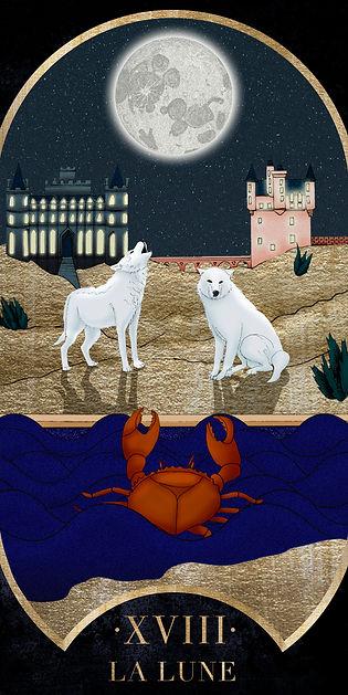 Eva Green en Lune dans le Tarot de Marseille par Carlovna Charlotte Weil