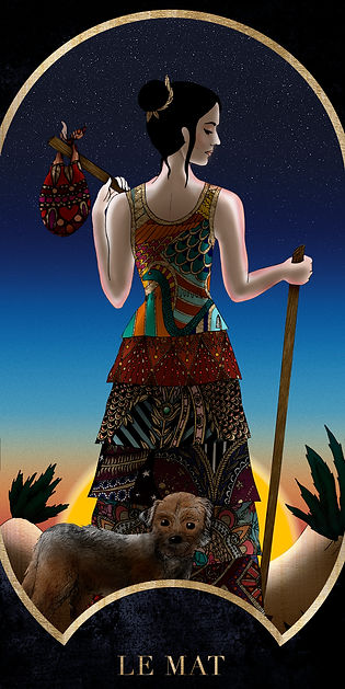 Eva Green en Mat dans le Tarot de Marseille par Carlovna Charlotte Weil