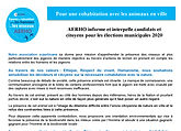 AERHO interpelle les candidats aux munic