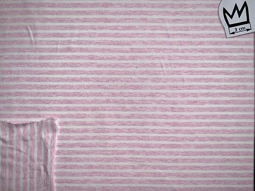 Jersey rosa weiss gestreift