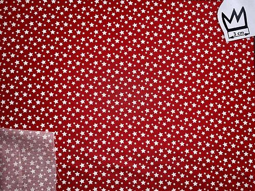 Baumwolle Sternchen Rot Weiss