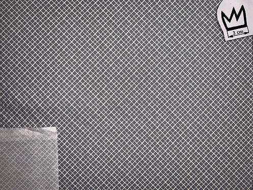 Baumwolle Netzmuster Grau Weiss