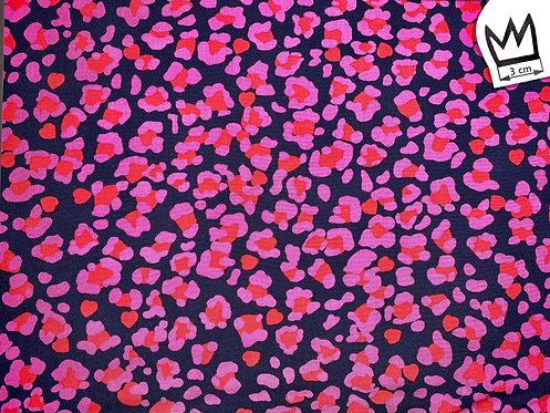 Viscose Leolook Pink Dunkelblau