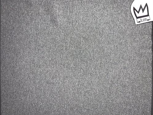 Bündchen Grau Meliert (fein)