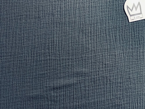 Musselin Uni Schwarz