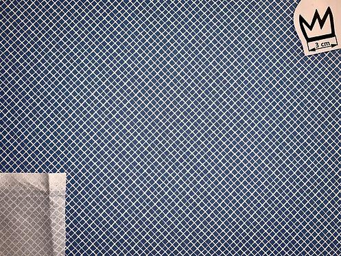 Baumwolle Netzmuster Blau Weiss