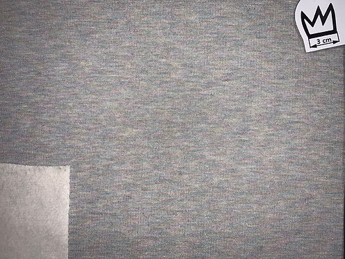 Sweat Grau Meliert mit bunten Metallicfäden
