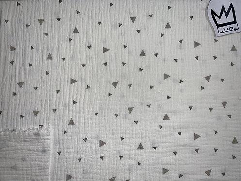 Musselin Dreiecke Naturweiss