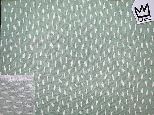 Baumwolle Mint mit Weissen Strichen