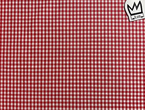 Baumwolle Kariert Rot Weiss