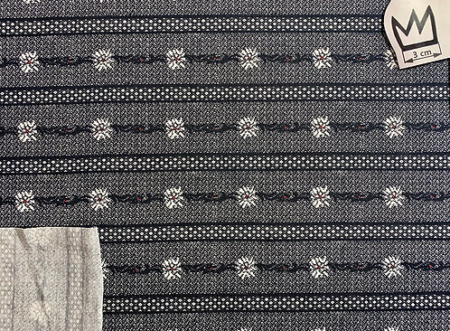 Jersey Schweizer Edelweiss grau/schwarz