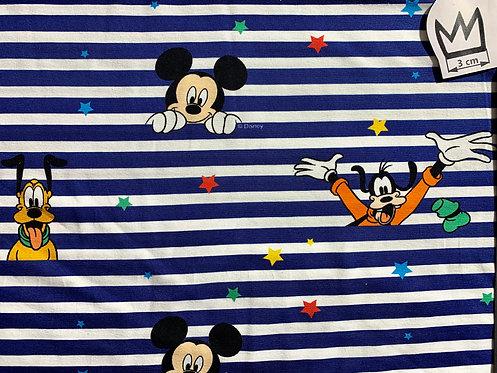 Jersey Mickey blau weiss gestreift