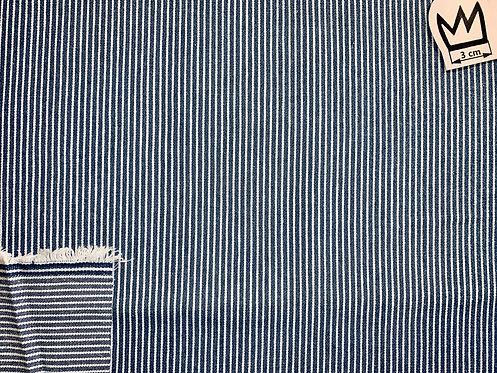 Jeans Blau Weiss Gestreift