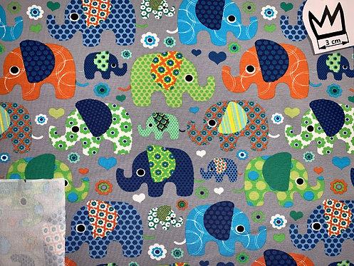 Jersey Elefanten bunt Grün Blau