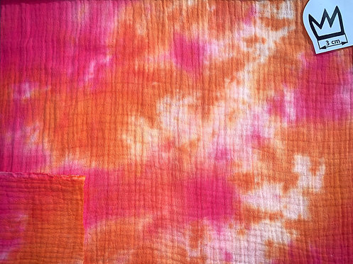 Musselin Batik Pink Orange
