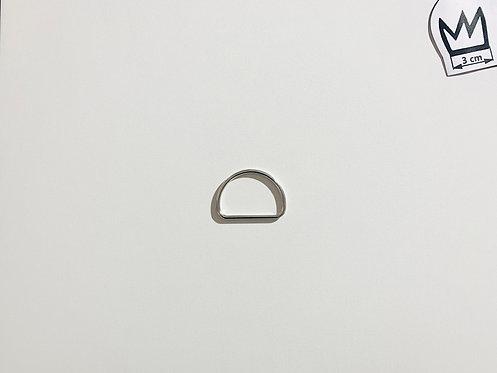 D-Ring Silber Glänzend 40 mm