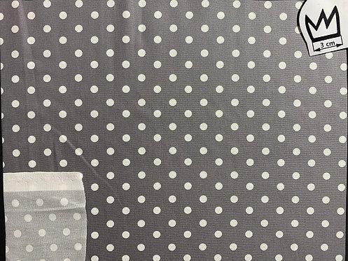 Baumwolle Punkte Grau Weiss