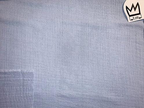 Musselin Uni Hellblau