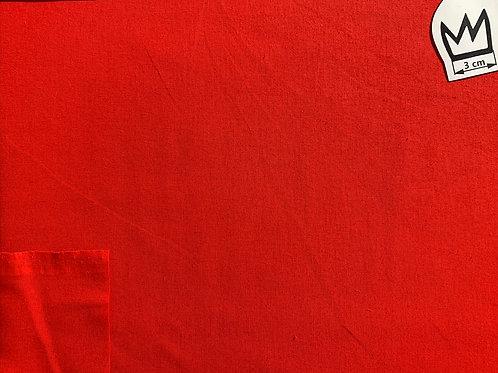 Baumwolle Uni Rot (Cretonne)