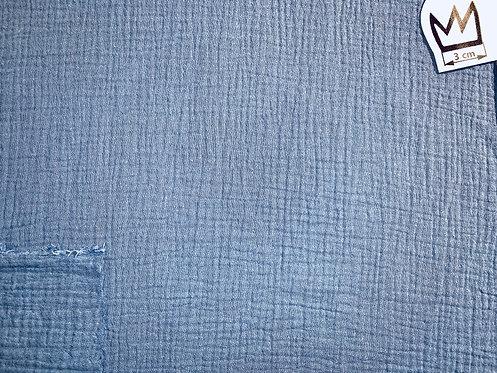 Musselin Uni Blau