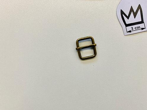Gurtband-Versteller Doppelt Altmessing 20 mm