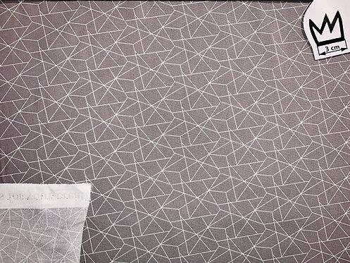 Baumwolle Grafisches Muster Grau Weiss