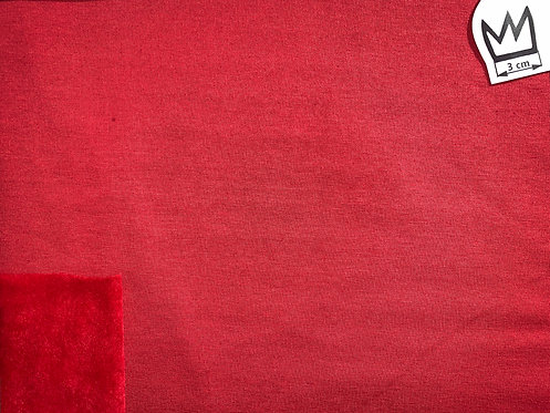 Sweat mit Alpenfleece Rot